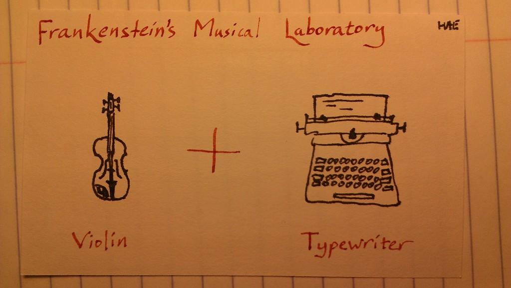 Violin + Typewriter (c) Hollis Easter