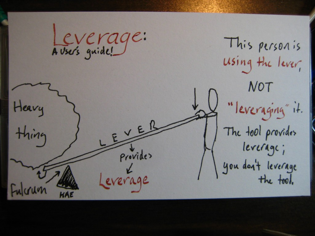 Leverage (c) Hollis Easter
