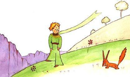 The Little Prince and the Fox (c) Harcourt, Brace, & Co.