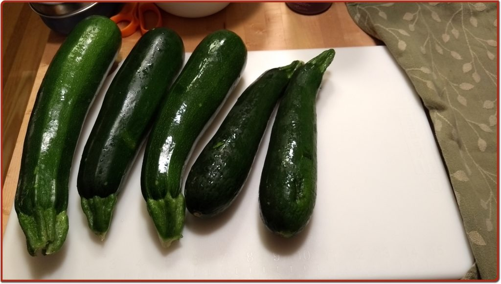 Zucchini ready for slicing