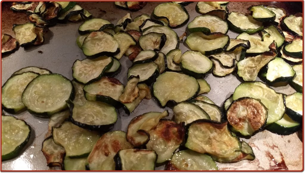 crispy roasted zucchini slices