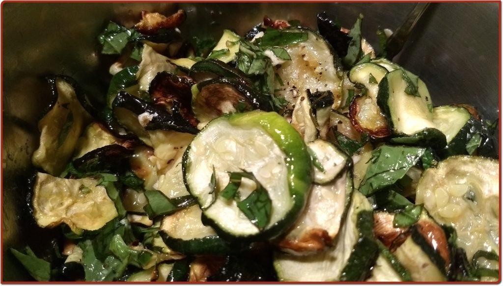 Finished googoots/zucchini salad